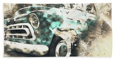 Chevy Truck Abstract Beach Towel