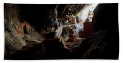 Chhungsi Cave From The Inside, Mustang Beach Towel