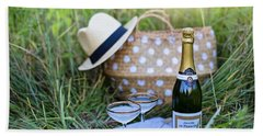 Beach Towel featuring the photograph Chic Picnic by Top Wallpapers