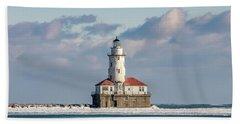 Chicago Harbour Light Beach Towel