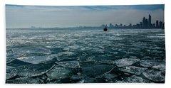 Chicago In Winter Beach Sheet