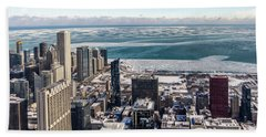 Chicago View Angled Beach Towel