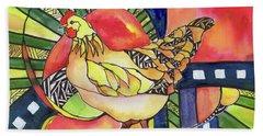 Chicken Red Beach Sheet