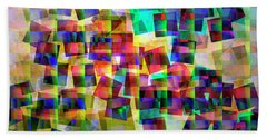Beach Towel featuring the digital art Chicken Run by Edmund Nagele