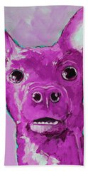Chihuahua Puppy Dog Portrait Beach Towel