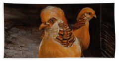 Chinese Golden Pheasant Beach Towel
