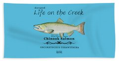 Chinook Salmon Disrupted Beach Towel