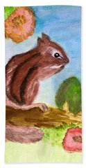 Chipmunk By Dee Beach Towel