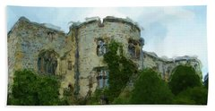 Chirk Castle Painting Beach Towel