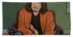 Chris Cornell Painting Beach Towel