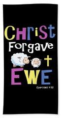 Christian Gifts For Kids Christ Forgave Ewe Beach Sheet