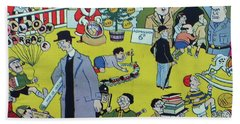 Beach Towel featuring the painting Christmas 1938 Dublin Opinion by Misc