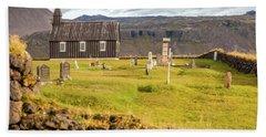 Church Cemetery Of Iceland Beach Towel