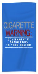 Cigarette Warning Beach Sheet