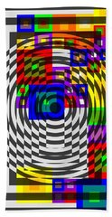Circular Colour Fusion  Beach Towel