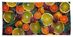 Citrus Time Beach Towel