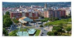 Cityscape In Reus, Spain Beach Towel