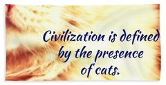 Beach Towel featuring the photograph Civilization by Judy Kennedy