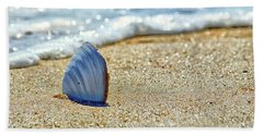Beach Towel featuring the photograph Clamshell On The Beach At Assateague Island by Bill Swartwout Fine Art Photography