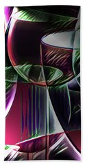 Claret Abstract Beach Towel