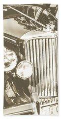 Classic Car Chrome Beach Towel