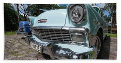 Classic Cuban Chevy Beach Towel