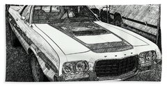 Classic Ford Sketch Beach Towel