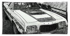Classic Ford Sketch Beach Sheet