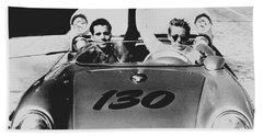 Classic James Dean Porsche Photo Beach Towel