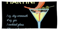 Classic Martini Beach Towel