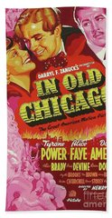 Classic Movie Poster - In Old Chicago Beach Towel