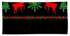 Classic Ugly Christmas Sweater Beach Towel