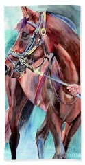 Classical Horse Portrait Beach Towel