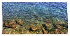 Clear Water At Morro Bay Beach Towel