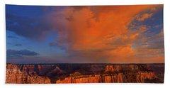 Clearing Storm Cape Royal North Rim Grand Canyon Np Arizona Beach Sheet