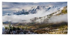 Beach Towel featuring the photograph Clearing Storm by TL Mair
