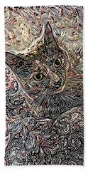 Cleo The Tortoiseshell Cat Beach Sheet