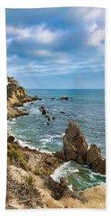 Cliffs Of Corona Del  Mar Beach Towel