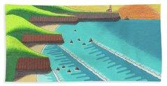 Cliffside Sunset  Beach Towel