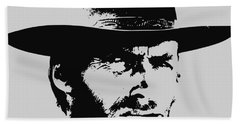 Clint Eastwood Minimalistic Pop Art Beach Towel
