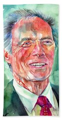 Clint Eastwood Painting Beach Towel