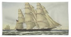 Clipper Ship, Flying Cloud, Published 1852 Beach Towel