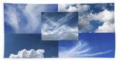Cloud Collage Two Beach Sheet