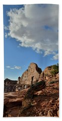 Clouds Above Half Dome At Green River Overlook Beach Towel