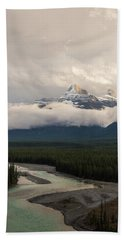 Beach Towel featuring the photograph Clouds In The Valley by Alex Lapidus
