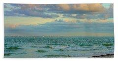 Clouds Over Sanibel Beach Beach Towel