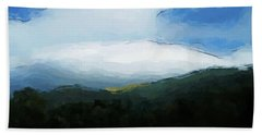 Cloudy View Painting Beach Towel