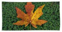 Clover Leaf Autumn Beach Towel
