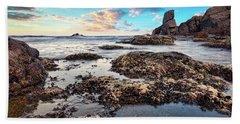 Beach Towel featuring the photograph Coast At Sozopol, Bulgaria by Milan Ljubisavljevic