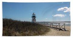 Coastal Brant Light House Beach Towel